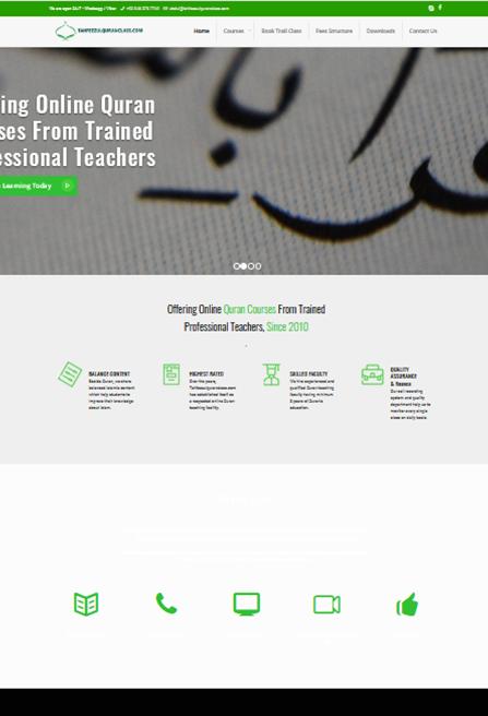 quran website designing and development